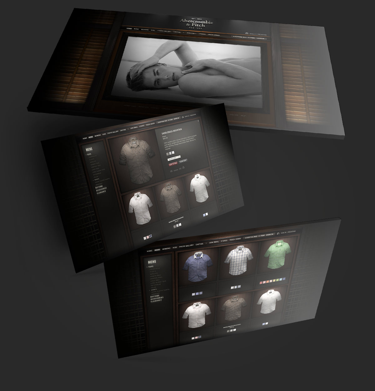 Abercrombie & Fitch Redesign Concept by Jeff Rigsby