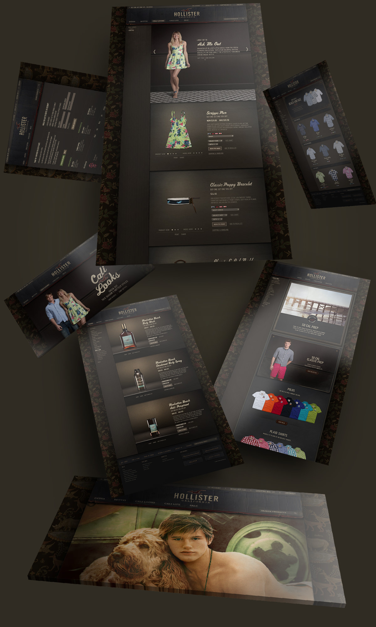 Hollister Co. Redesign by Jeff Rigsby